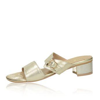 Olivia shoes dámske elegantné šľapky s remienkom - zlaté