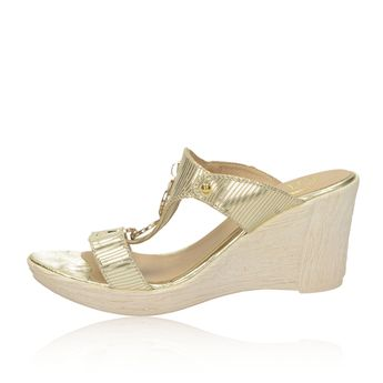 Olivia shoes dámske elegantné šľapky - zlaté