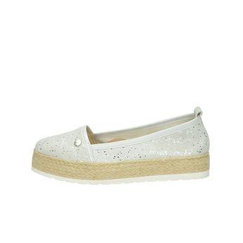 Olivia shoes dámske espadrilky na platforme - strieborné ad1d0f6e6bb