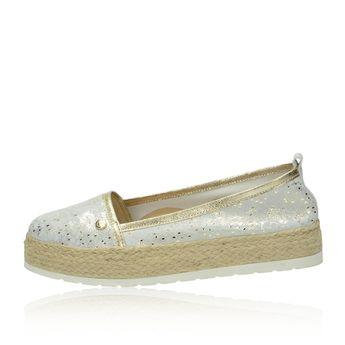 Olivia shoes dámske espadrilky na platforme - zlaté