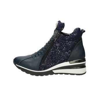 Olivia shoes dámske kožené štýlové kotníky - modré