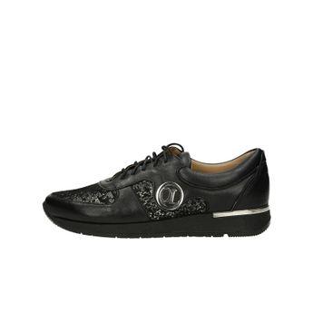 Olivia shoes dámske kožené tenisky - čierne