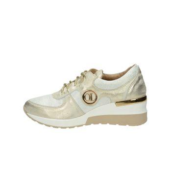 a2d19dcface4 Olivia shoes dámske kožené tenisky na klinovej podrážke - zlaté