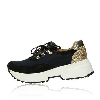 bfc04f1d4 Olivia shoes dámske kožené tenisky na podpatku - čierne