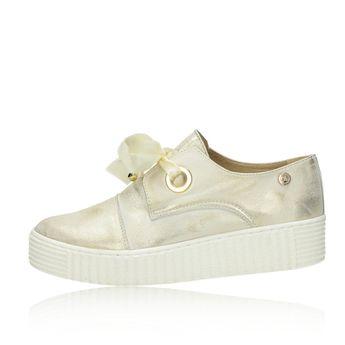 88f1b7e4bdd0 Olivia shoes dámske kožené tenisky- zlaté