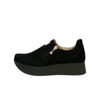 976c825f6e44 Olivia shoes dámske nubukové poltopánky na platforme - čierne
