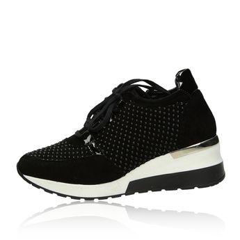 Olivia shoes dámske semišové tenisky - čierne