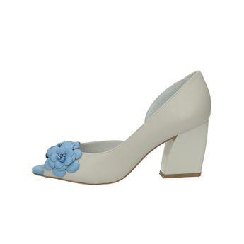 Olivia shoes dámske štýlové lodičky s otvorenou špičou - šedomodré