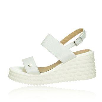3666059683a1a Olivia shoes dámske štýlové sandále na klinovej podrážke - biele