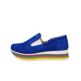 Olivia shoes dámske štýlové semišové poltopánky - modré