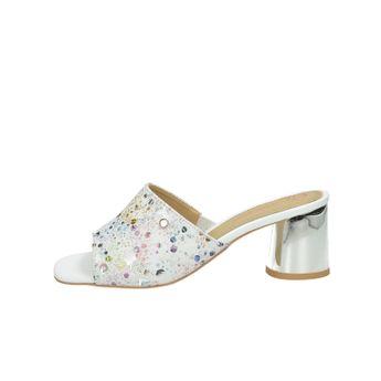 Olivia shoes dámske štýlové šľapky na podpätku - vzorované