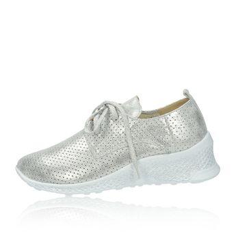 Olivia shoes dámske štýlové tenisky - strieborné
