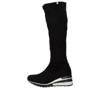 Olivia shoes dámske vysoké semišové čižmy - čierne