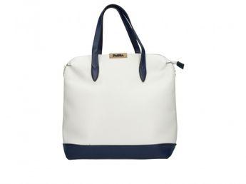 Pabia dámska štýlová kabelka - bielomodrá