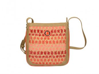 Pabia dámska kabelka - červenobéžová