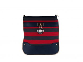 Pabia dámska športová kabelka - červenomodrá
