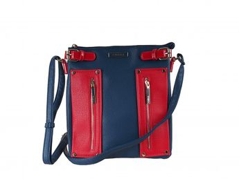 Pabia dámska kabelka - modročervená