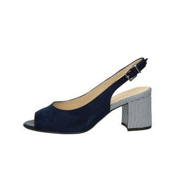 Peter Kaiser dámske semišové sandále s remienkom - tmavomodré