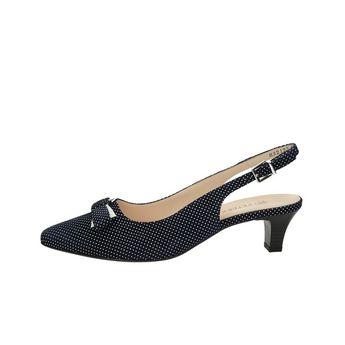 Peter Kaiser dámske štýlové sandále s bodkovaným motívom - čierne