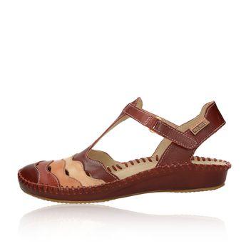 866bcbf0f7d3 Pikolinos dámske kožené pohodlné sandále - bordové