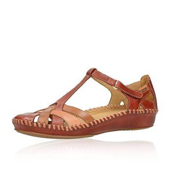 b6328942b996 Pikolinos dámske kožené sandále - bordové