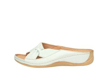 Pollonus dámske šľapky - biele