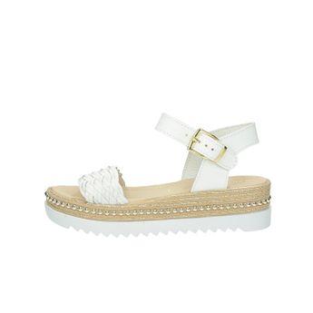3dd30fbc708d Prati Verdi dámske štýlové kožené sandále na klinovej podrážke - biele
