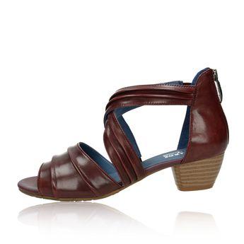 Regarde le ciel dámske kožené sandále - bordové
