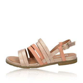 Regarde le ciel dámske kožené sandále - ružové