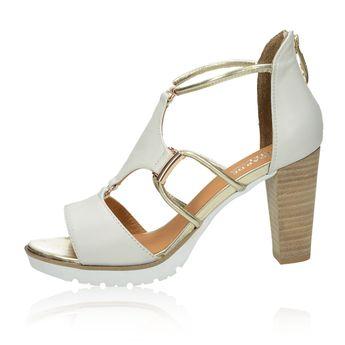 4fab2a59f785c Regarde le ciel dámske kožené štýlové sandále - biele