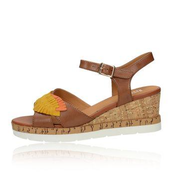 e8843d92a1 Regarde le ciel dámske štýlové sandále na klinovej podrážke - hnedé