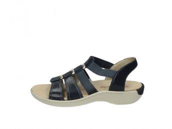 f7c9275c50b5 Remonte dámske kožené sandále - tmavomodré