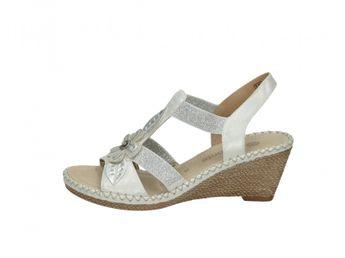 Remonte dámske sandále - strieborné