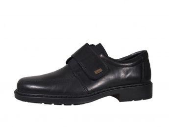 Rieker pánske topánky na suchý zips - čierne
