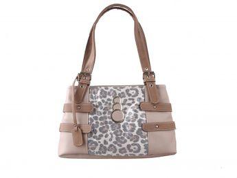 Rieker dámska kabelka s leopardovým vzorom - hnedá