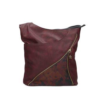 Rieker dámska kabelka na zips - bordová 473c7c41033