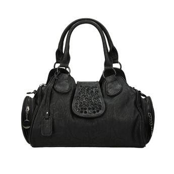 Rieker dámska kabelka s ozdobnými kamienkami - čierna