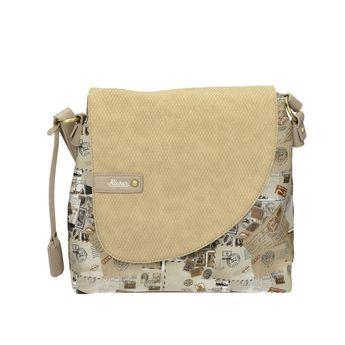 Rieker dámska kabelka s potlačou - béžová