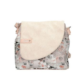 Rieker dámska kabelka s potlačou - ružová