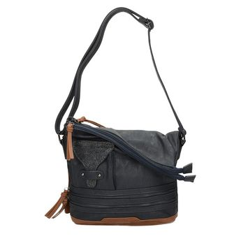 Rieker dámska praktická kabelka na zips - modrá