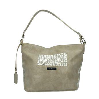 Rieker dámska praktická kabelka s ozdobnými kamienkami - béžová