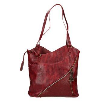 Rieker dámska štýlová kabelka - bordová