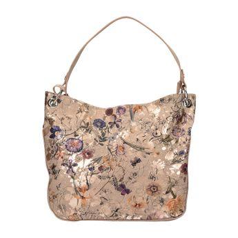 Rieker dámska štýlová praktická kabelka s kvetovým motívom - ružová