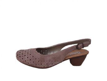 Rieker dámske semišové sandále - hnedé
