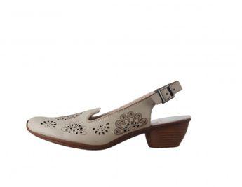 Rieker dámske kožené sandále - béžové