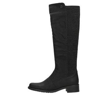 Rieker dámske čižmy s strečovým materiálom - čierne 7f911af555f