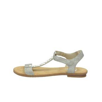 Rieker dámske elegantné sandále s ozdobnými kamienkami - šedé bcf3e5594eb