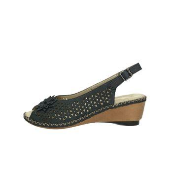 20f4e298c95e6 Rieker dámske kožené perforované sandále - tmavomodré
