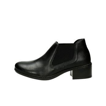 Rieker dámske pohodlné kotníky - čierne