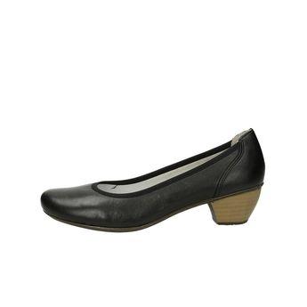 Rieker dámske pohodlné lodičky na nízkom podpätku - čierne 0946fafc86d